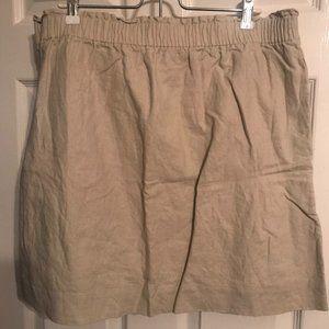 "Tan/nude J. Crew ""Sidewalk Skirt"""
